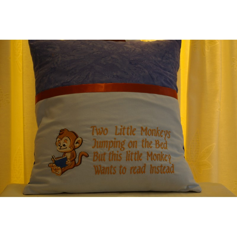"Reading Cushion ""Two Little Monkey's"""