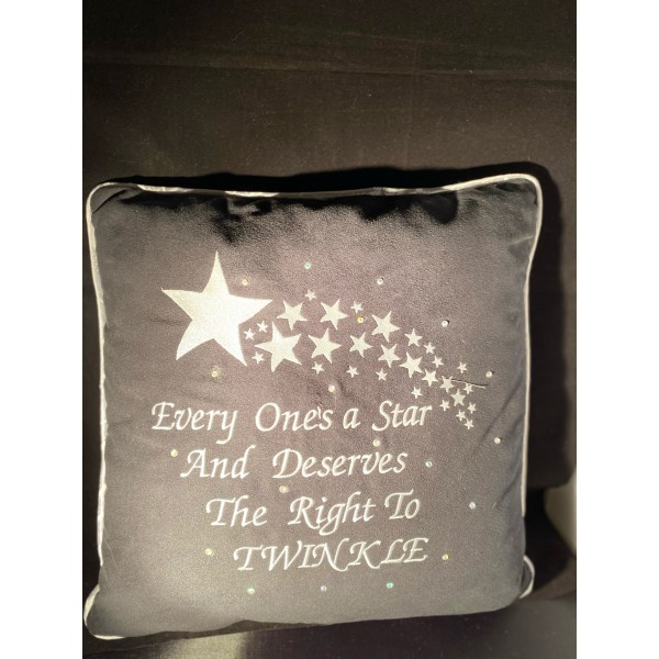 Embroidered Cushion with a Marilyn Monroe Quote